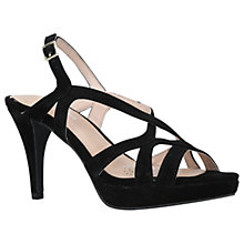 Buy Carvela Asha Multi Strap Cone Heeled Sandals, Black Suede Online at johnlewis.com