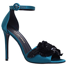 Buy Kurt Geiger Slay Embellished Stiletto Heeled Sandals, Teal Online at johnlewis.com