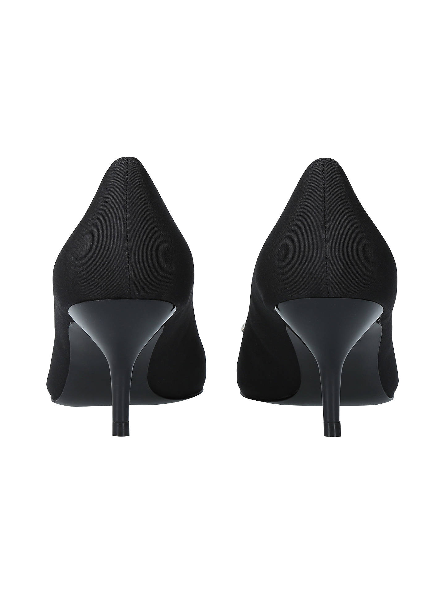 BuyKurt Geiger London Pia Jewelled Kitten Heeled Court Shoes, Black, 3 Online at johnlewis.com