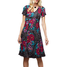 Buy East Rosario Pleat Dress, Flint Online at johnlewis.com