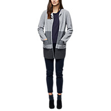 Buy East Wool Colourblock Coatigan, Smoke Online at johnlewis.com