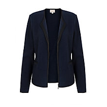 Buy East Piped Boiled Wool Jacket, Ink Online at johnlewis.com
