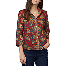 Buy East Anokhi Shirin Print Shirt, Red/Multi Online at johnlewis.com