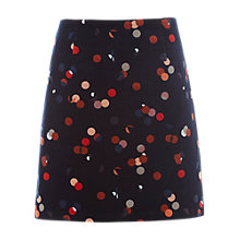 Buy White Stuff Lena Print Velvet Mini Skirt, Old Blue Online at johnlewis.com