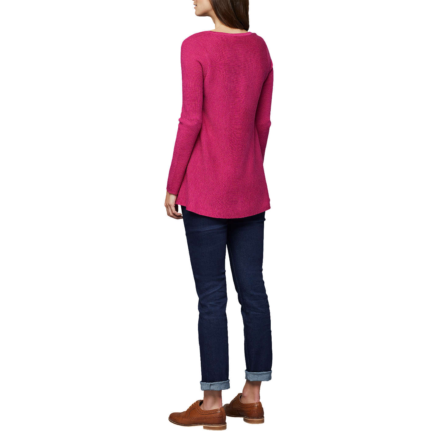 BuyEast Merino Wool Swing Jumper, Magenta, S Online at johnlewis.com