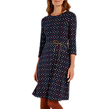 Buy White Stuff Fauna Jersey Dress, Old Blue Online at johnlewis.com