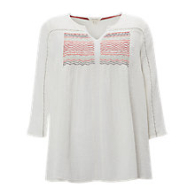 Buy White Stuff Spirit Wanderer Smock Top, Neutrals Online at johnlewis.com