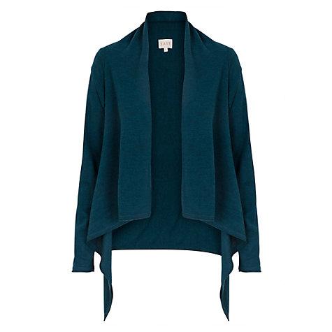 Buy East Merino Wool Short Waterfall Cardigan | John Lewis