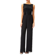 Buy Adrianna Papell Long Beaded Bodice Jumpsuit, Black Online at johnlewis.com