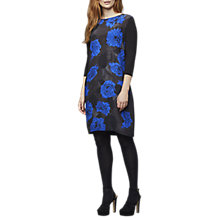 Buy East Anna Silk Print Dress, Indigo Online at johnlewis.com