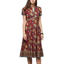 Buy East Anokhi Shirin Print Dress, Red/Multi Online at johnlewis.com