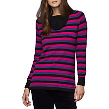 Buy East Cowl Stripe Jumper, Multi Online at johnlewis.com