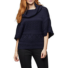 Buy East Pointelle Cowl Jumper, Ink Online at johnlewis.com