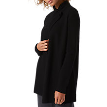 Buy Jigsaw Bar Fastening Pique Cardigan, Black Online at johnlewis.com