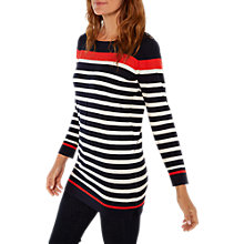 Buy White Stuff City Scape Tunic Top, Navy Stripe Online at johnlewis.com