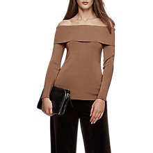Buy Reiss Ximena Off Shoulder Jumper, Ginger Online at johnlewis.com