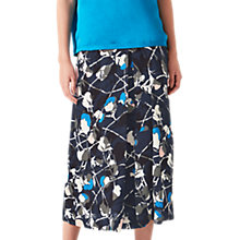 Buy Jigsaw Floral Thistle Pleated Skirt, Navy Online at johnlewis.com