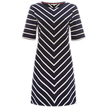 Buy White Stuff Chevron Stripe Tunic Dress, Navy Online at johnlewis.com