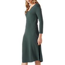 Buy Jigsaw Ottoman Clean Knitted Dress, Foliage Green Online at johnlewis.com