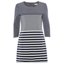 Buy White Stuff Stripetastic Jersey Tunic Dress, Navy Online at johnlewis.com