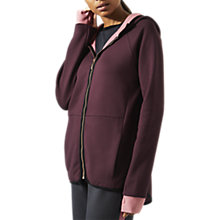 Buy Jigsaw Athleisure Double Faced Hoodie, Plum Online at johnlewis.com
