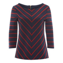 Buy White Stuff Chevron Stripe Top, Navy Stripe Online at johnlewis.com