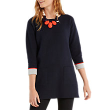 Buy White Stuff Sunset Skyline Tunic Top, Navy Online at johnlewis.com