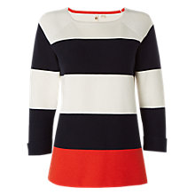 Buy White Stuff City Stripe Jumper, Navy Online at johnlewis.com