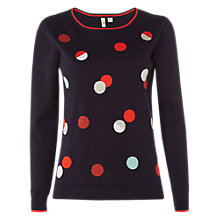 Buy White Stuff In the Spotlight Jumper, Multi/Navy Online at johnlewis.com