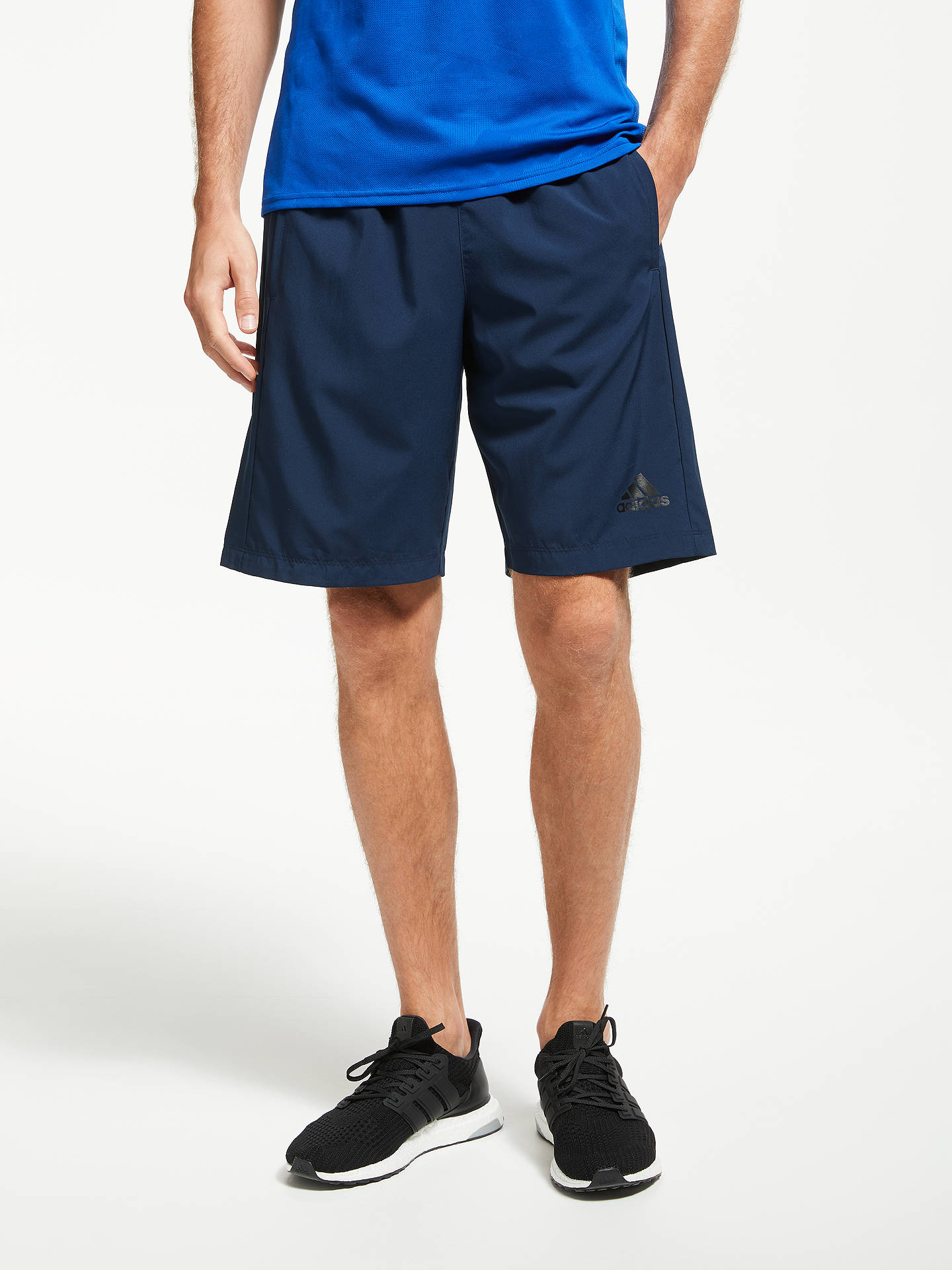 adidas D2M Woven Training Shorts, Navy at John Lewis & Partners