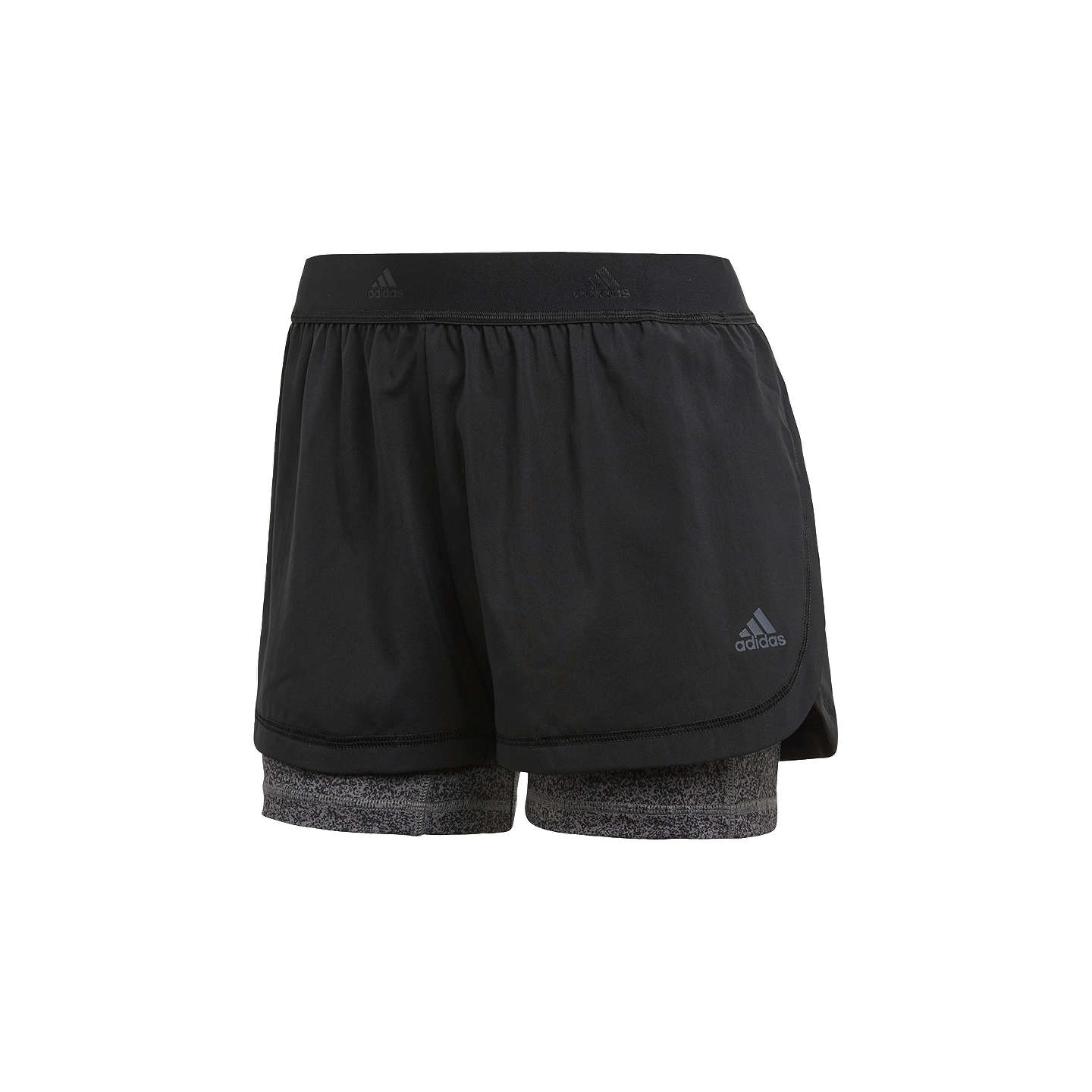 Adidas Two In One Printed Training Shorts, Black by Adidas