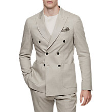Buy Reiss Paulo Double Breasted Slim Fit Suit Jacket, Stone Online at johnlewis.com