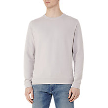 Buy Reiss Fenton Knit Sweatshirt, Stone Online at johnlewis.com