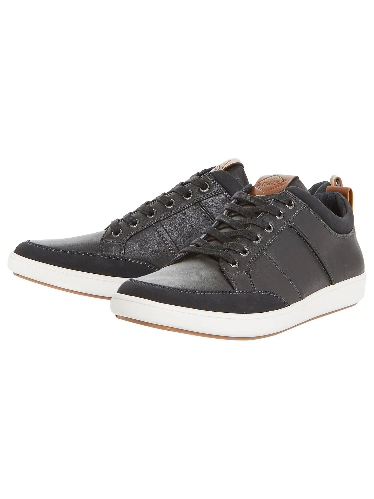 BuyDune Tristan Stitch Detail Bumper Trainers, Black, 6 Online at johnlewis.com