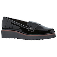 Buy Carvela Mile Flatform Loafers, Black Online at johnlewis.com