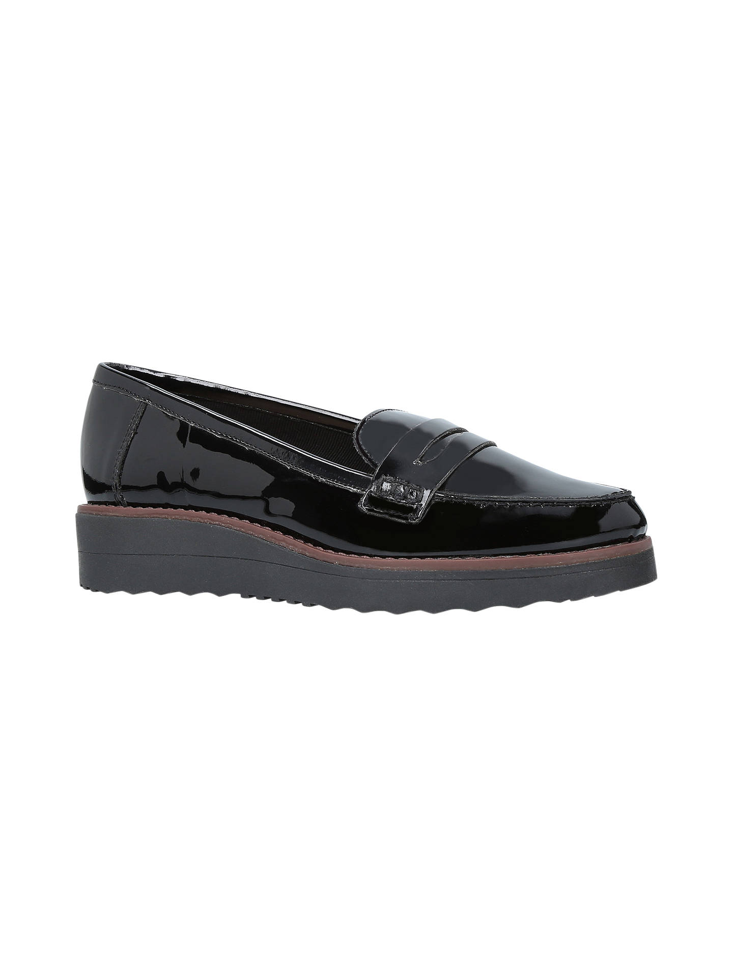Carvela Mile Flatform Loafers, Nero at John Lewis & Partners