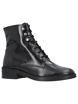 Carvela Skewer Lace Up Ankle Boots, Black