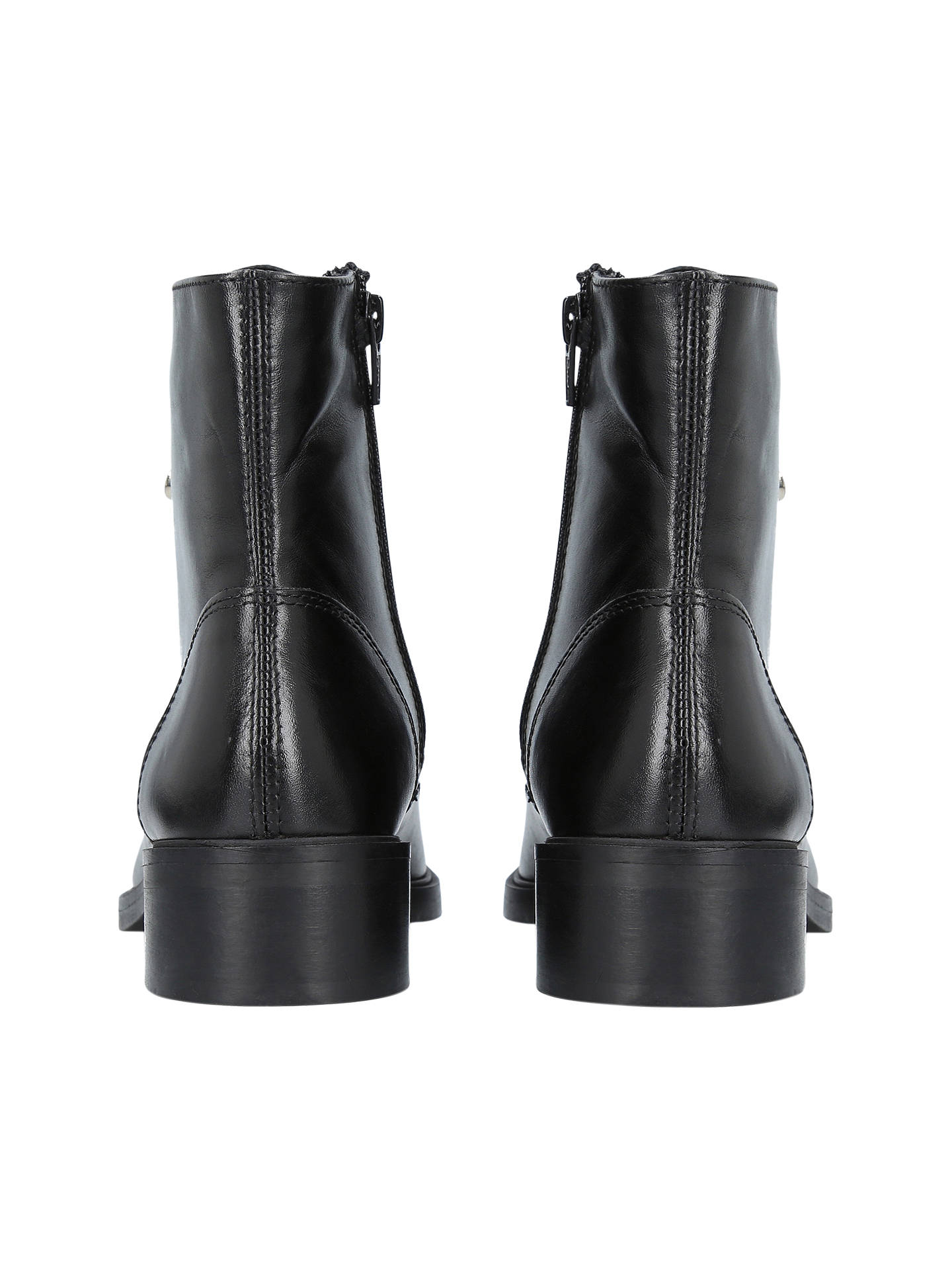 Buy Carvela Skewer Lace Up Ankle Boots, Black, 4 Online at johnlewis.com