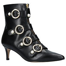 Buy Carvela Sparky Kitten Heel Ankle Boots, Black Online at johnlewis.com
