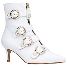 Buy Carvela Sparky Kitten Heel Ankle Boots, White Online at johnlewis.com