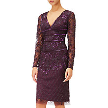 Buy Adrianna Papell Beaded Dress, Amethyst Online at johnlewis.com