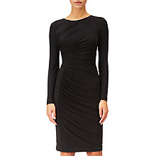 Buy Adrianna Papell Gathered Sheath Dress, Black Online at johnlewis.com