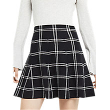 Buy Oasis Checked Skirt, Black/White Online at johnlewis.com