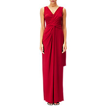 Buy Adrianna Papell V Neck Draped Gown, Cardinal Online at johnlewis.com