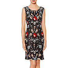 Buy Gina Bacconi Scarlett Floral Beaded Dress, Black Online at johnlewis.com