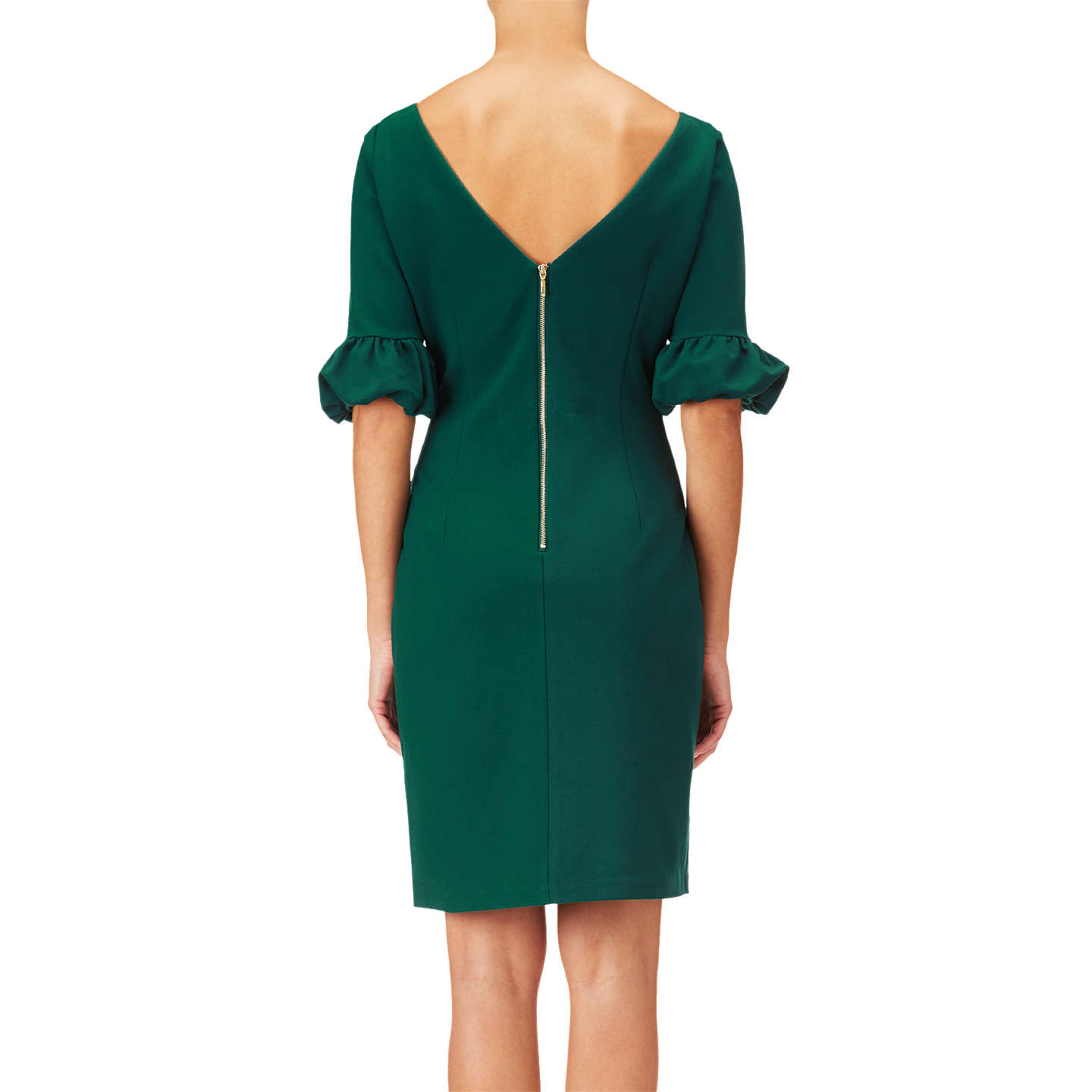 BuyAdrianna Papell, Bishop Sleeve Shift Dress, Hunter, 8 Online at johnlewis.com