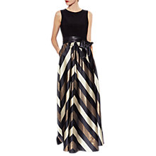 Buy Gina Bacconi Michaela Satin Stripe Maxi Dress Online at johnlewis.com