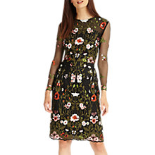 Buy Phase Eight Miriam Embroidered Dress, Black/Multi Online at johnlewis.com