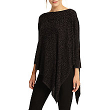 Buy Phase Eight Jacquard Melinda Asymmetrical Knit, Black/Grey Online at johnlewis.com