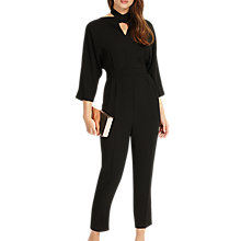 Buy Phase Eight Tria Twist Front Jumpsuit, Black Online at johnlewis.com